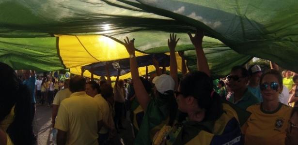 Em Natal, 11 mil pessoas foram às ruas contra o governo Dilma - Marcelo Jansen/Via WhatsApp