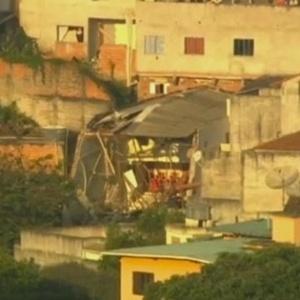 Imóvel onde funcionava uma igreja evangélica Assembleia de Deus, em Diadema. As paredes desabaram na tarde desta quarta-feira (15)
