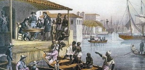 Desembarque de escravos no Cais do Valongo