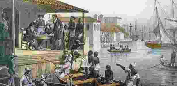 Desembarque de escravos no Cais do Valongo - JM Rugendas (1835)/Reprodução