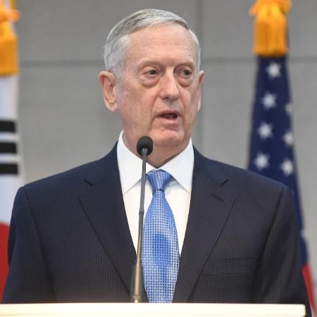 3.fev.2017 - Ex-secretário americano da Defesa, James Mattis (foto) criticou resposta de Trump aos protestos - Kim Min-Hee/AFP Photo