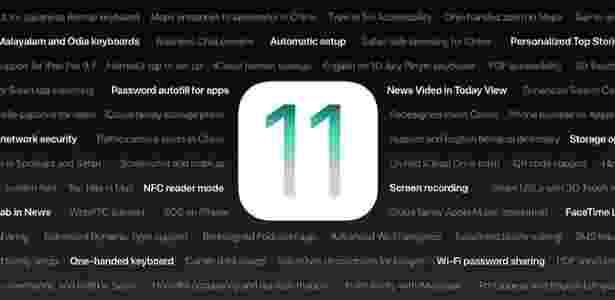 iOS 11 foi liberado para todos usuários após meses de testes - Reprodução/Apple