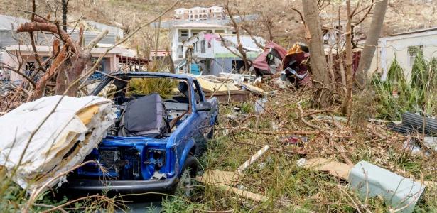 11.set.2017 - Furacão Irma deixa rastro de destruição pelas Ilhas Virgens Britânicas