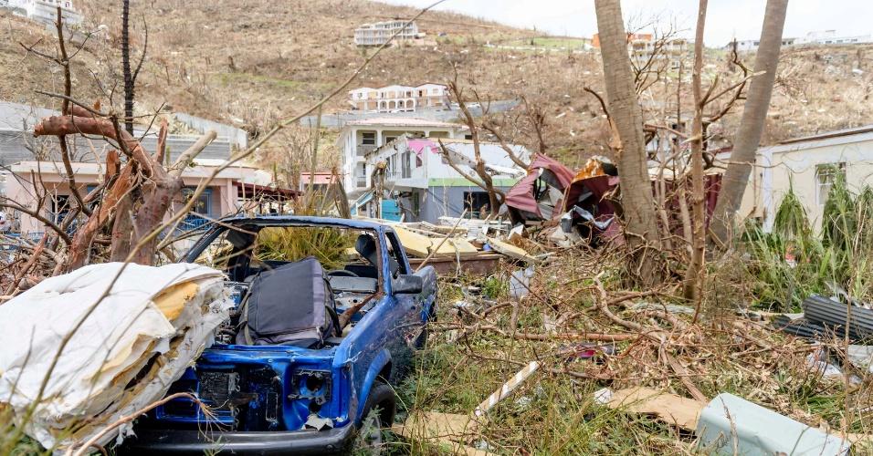 11.set.2017 - Furacão Irma deixa rastro de destruição pelas Ilhas Virgens, no Caribe