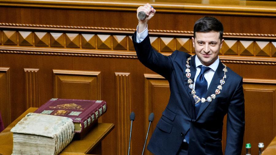 Arquivo - O presidente ucraniano pediu cúpula para tentar aliviar as tensões com Moscou - Vladyslav Musiienko/Ukrainian Governmental Press Service/Reuters