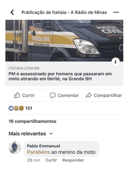 Reprodução do comentário do professor Pablo Emmanuel em uma notícia da Rádio Itatiaia - Reprodução/Rádio Itatiaia