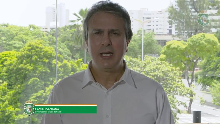 Camilo Santana (PT), governador do Ceará, faz pronunciamento sobre segurança pública no estado - Reprodução/YouTube