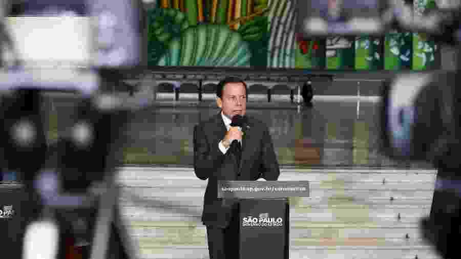23.mar.2020 - O governador de São Paulo, João Doria (PSDB), durante coletiva sobre o coronavírus - Divulgação/Governo do Estado de São Paulo