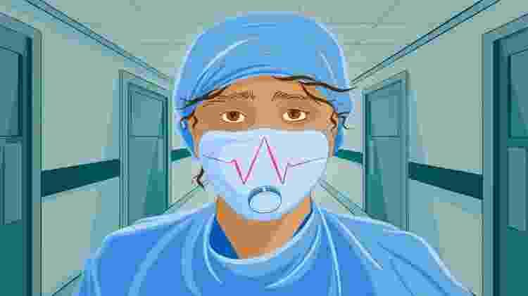 Ilustração de um médico - BBC - BBC