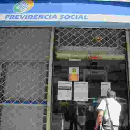 Agencia do INSS da Previdência Social localizada na Rua México, no centro do Rio de Janeiro - ADRIANO ISHIBASHI/ESTADÃO CONTEÚDO
