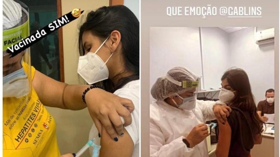 Irmas Lins comemoram vacina contra covid-19 - Reprodução