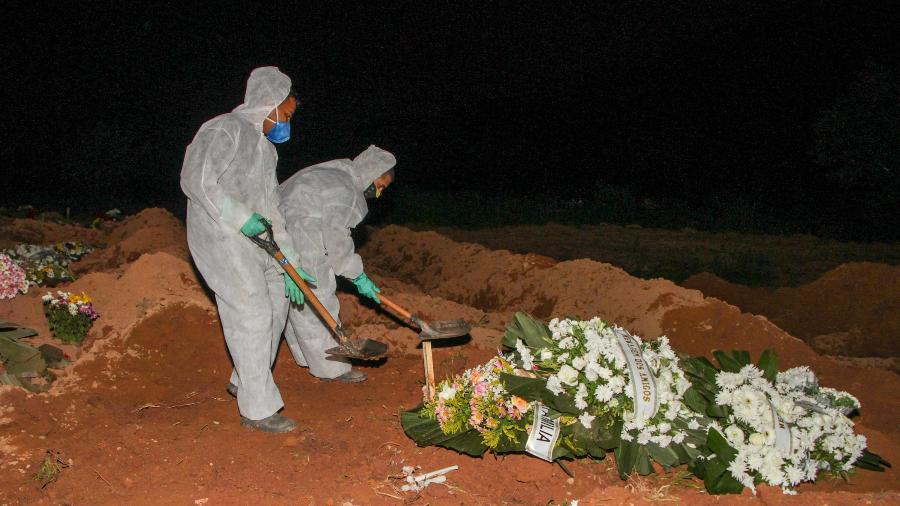 Um dia após bater a marca de 550 mil mortes, o Brasil registrou hoje mais1.320óbitos pela covid-19, segundo consórcio - Rogério Galasse/Estadão Conteúdo