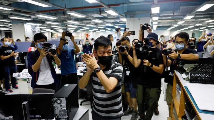 23.jun.2021 - Lam é o nono funcionário do Apple Daily detido com base na lei de segurança nacional - Tyrone Siu/Reuters/Arquivo