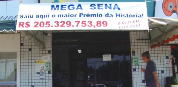 Jogo vencedor foi feito na noite do sorteio em lotérica de área nobre de Brasília