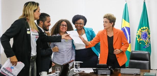 Dilma recebeu no Palácio do Planalto o deputado Jean Wyllys (PSOL-RJ), a ministra Nilma Lino Gomes e representantes do Conselho Nacional LGBT - Roberto Stuckert Filho/PR