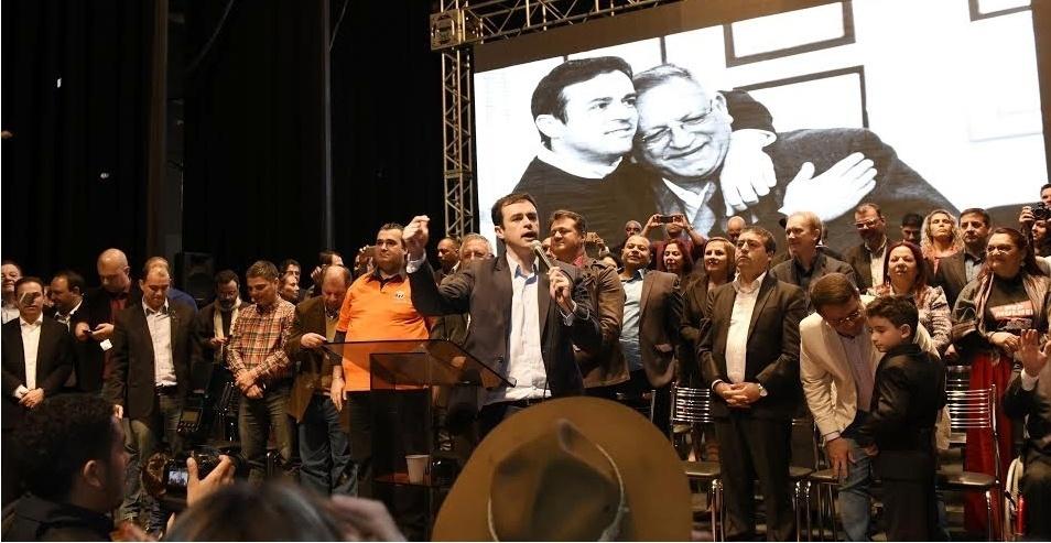 5.ago.2016 - A coligação Novas Ideias (PTB, PR, Solidariedade, PSC, PTdoB e PRP) oficializou o deputado estadual, Maurício Dziedricki (PTB) como candidato a prefeito de Porto Alegre e o coronel Arlindo Bonete (PR) como vice na chapa
