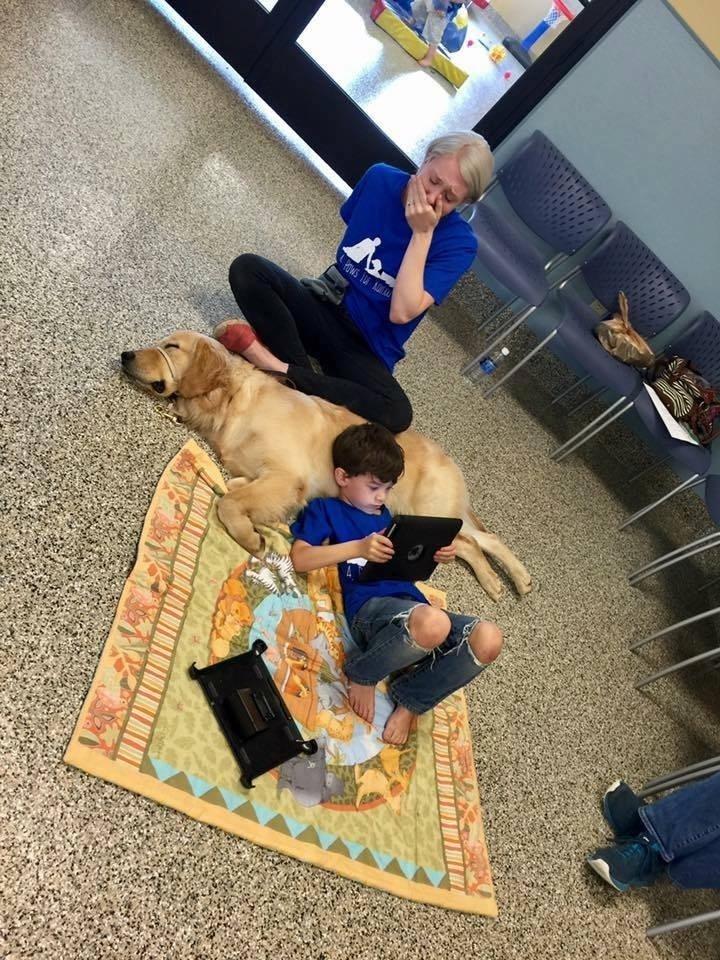 20.out.2016 - Criança autista que não gosta de ser tocada consegue criar laços com cachorro