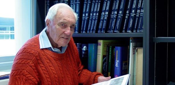 Cientista mais velho da Austrália, David Goodall em Perth, sua cidade natal