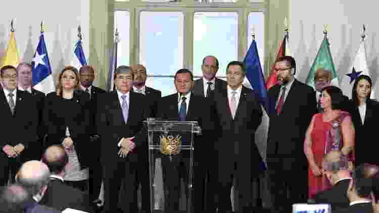 Os ministros das Relações Exteriores dos países-membros do Grupo de Lima se reúnem na capital peruana em janeiro deste ano - Ministério das Relações Exteriores do Peru