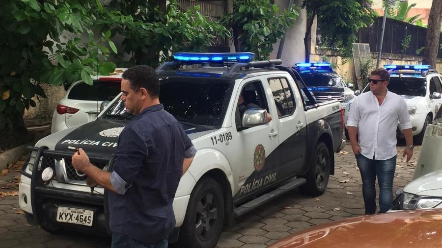 14.mar.2019 - Acusados de matar Marielle Franco deixaram a DH para audiência de custódia - Luis Kawaguti/UOL