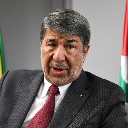 O embaixador palestino no Brasil, Ibrahim Alzeben - Evaristo Sá/AFP