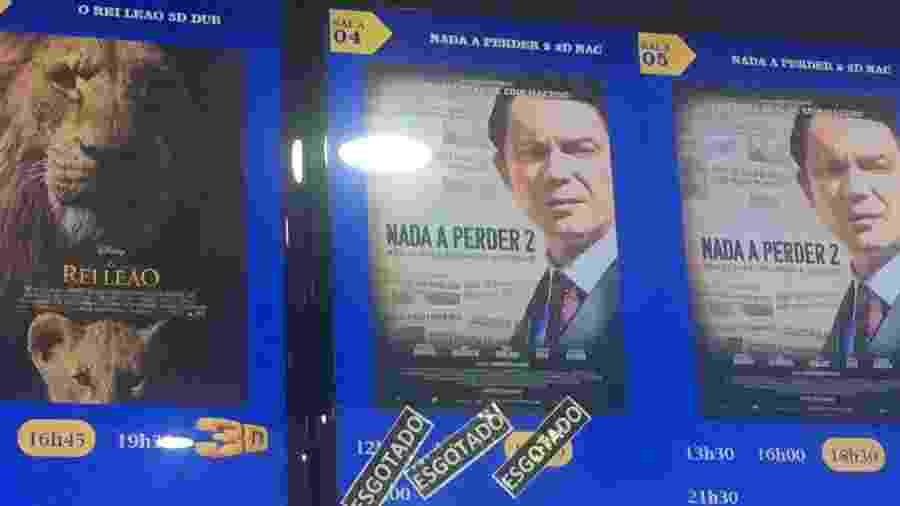 Cinépolis do Shopping Metrô Itaquera foi o local com mais sessões esgotadas de Nada a Perder 2 em São Paulo - UOL