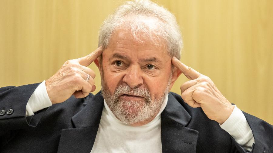 Ex-presidente Luis Inácio Lula da Silva concede entrevista na Polícia Federal, em Curitiba - Theo Marques - 14.ago.19/Framephoto/Estadão Conteúdo