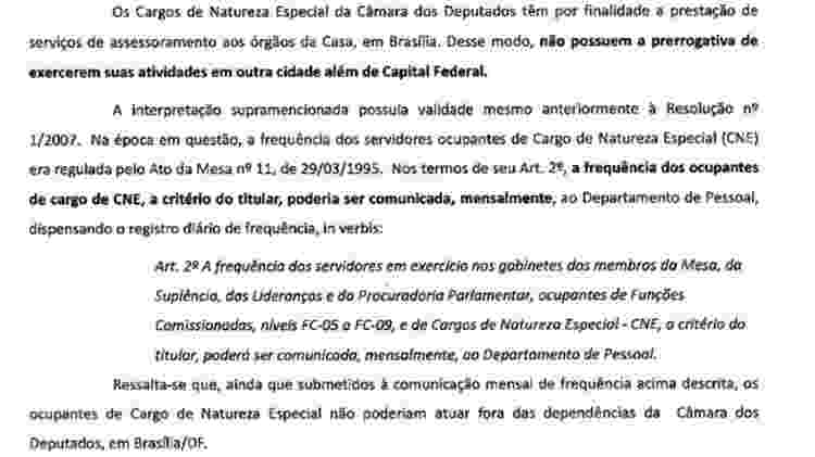 Questionada pela BBC News Brasil, Câmara afirma que ocupação do cargo à distância é uma prática irregular - Reprodução