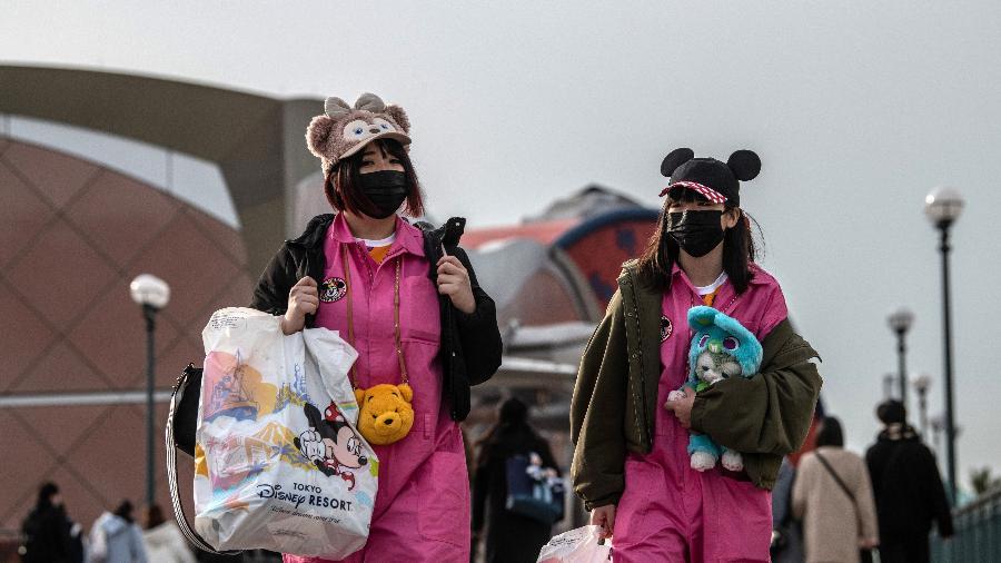 Parques controlados pela Disney, como o Tokyo Disneyland, estão fechados desde 29 de fevereiro - Getty Images
