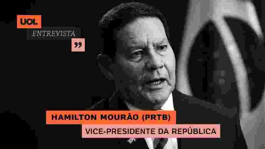 Vice-presidente Hamilton Mourão no UOL Entrevista (15/07/20) - Arte/UOL