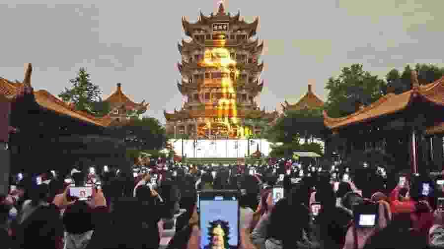 A Torre do Grou Amarelo é um dos pontos turísticos mais visitados de Wuhan - Getty Images