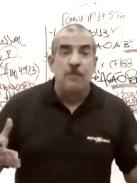 O ex-PM Norberto Florindo Junior em aula na AlfaCon - Reprodução de vídeo