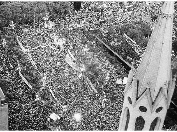 Fernando Santos/Follhapress - 25 de janeiro de 1983