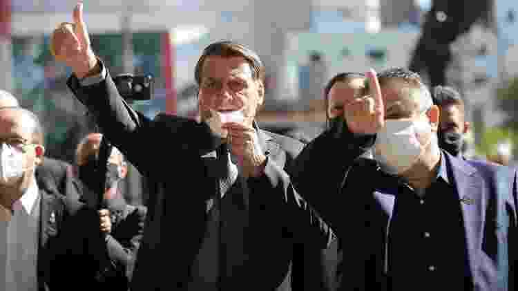 Jair Bolsonaro durante visita a Chapecó (SC)   - Tarla Wolski/Colaboração para o UOL - Tarla Wolski/Colaboração para o UOL