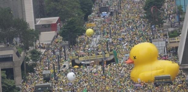 Manifestantes fazem protestos em todos os Estados e no DF - Danilo Verpa/Folhapress