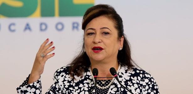 Senadora Kátia Abreu foi ministra da ex-presidente Dilma Rousseff e tem posições contrárias às do presidente Michel Temer - Alan Marques/Folhapress