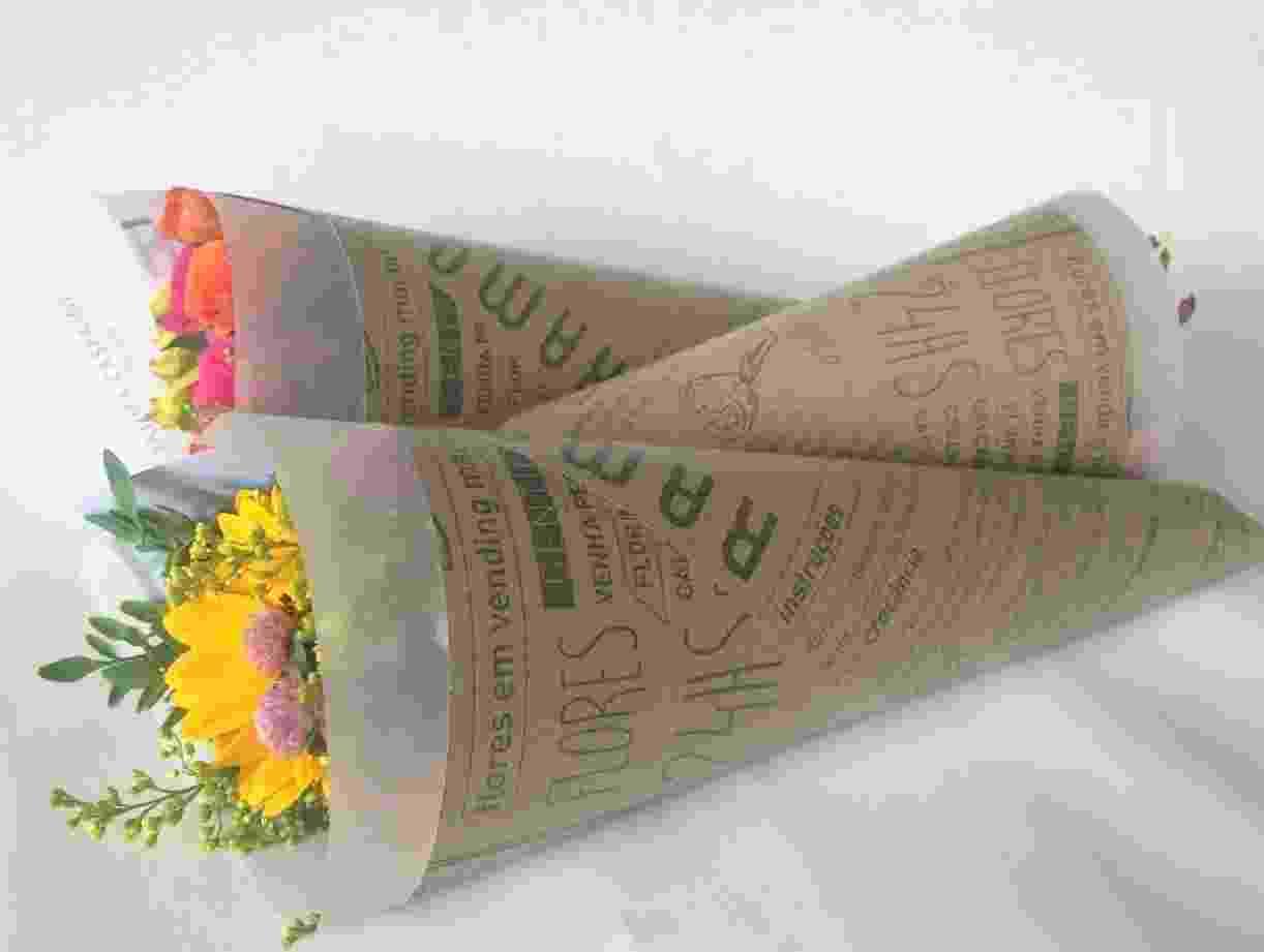 Arranjo da empresa Ramo Urbano, que vende flores em máquinas automáticas, como as de refrigerantes - Divulgação