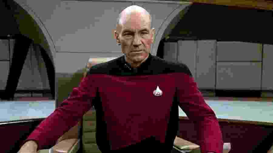 """Patrick Stewart como Jean-Luc Picard em """"Star Trek: A Nova Geração""""  - Divulgação"""