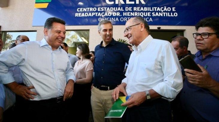05.set.2018 - Alckmin durante agenda em Goiânia