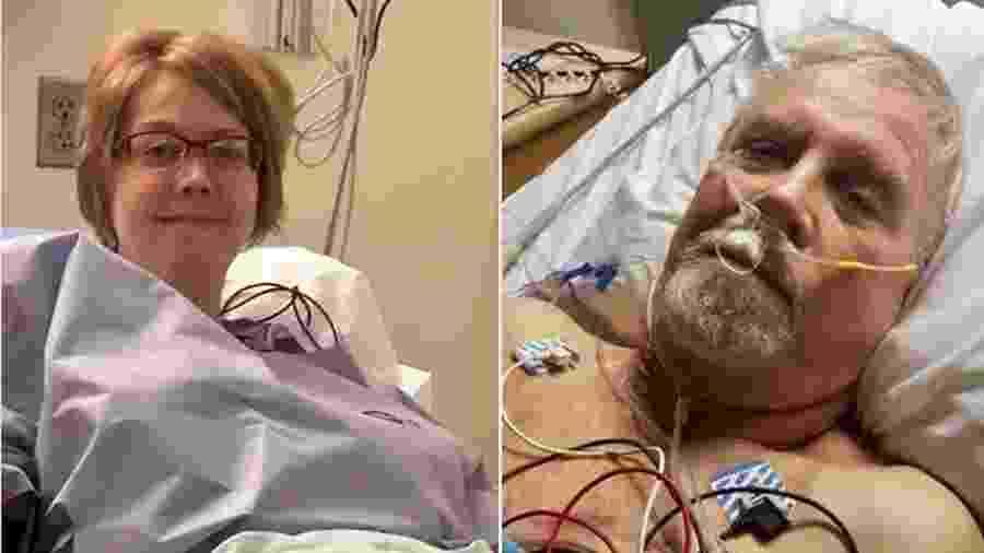 Becca Bundy doou um de seus rins para o bombeiro voluntário Bill Cox - Arquivo pessoal