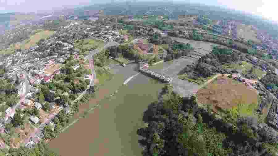 Ponto de captação de águas na ETA do Rio Guandu na Baixada Fluminense - Divulgação/Comitê Guandu