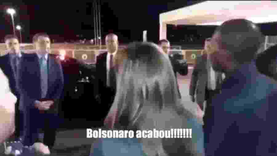 """Haitiano diz ao presidente Jair Bolsonaro que seu governo """"acabou"""" - Reprodução/Twitter"""