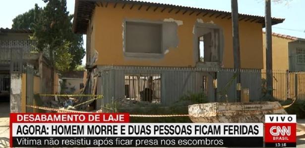 Casa estava em obras | Homem morre após desabamento de laje em São Paulo