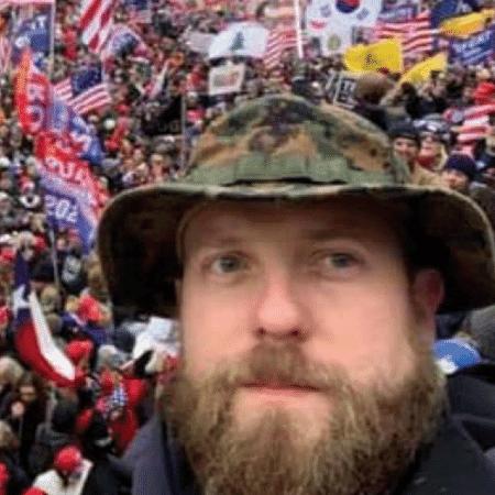 Ryan Nichols, 30, foi detido semana passada suspeito de invadir o Congresso dos EUA, no dia 6 de janeiro - Reprodução/NBC News