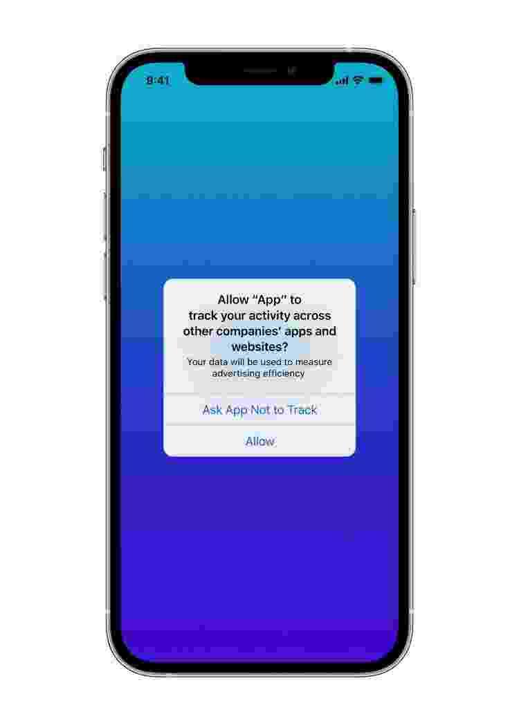 iOS 14.5 - bloquear rastreamento de dados em apps e sites - Divulgação/Apple - Divulgação/Apple