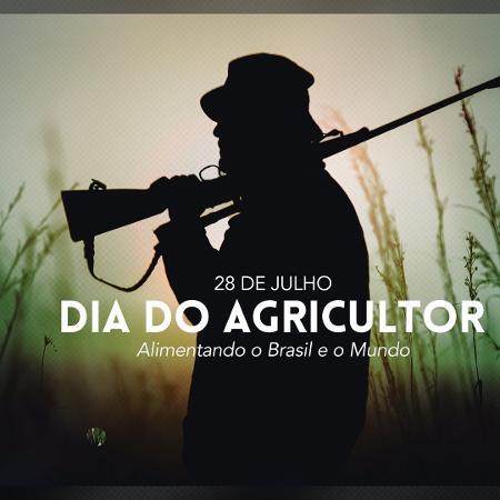 Postagem da Secom sobre o Dia do Agricultor - Reprodução