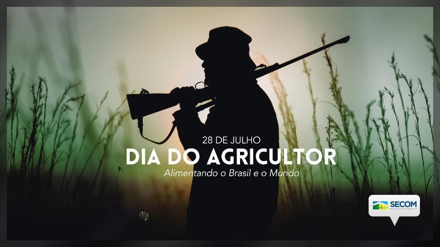 Postagem da Secom sobre o Dia do Agricultor teve repercussão negativa nas redes e foi deletada pelo governo federal - Reprodução