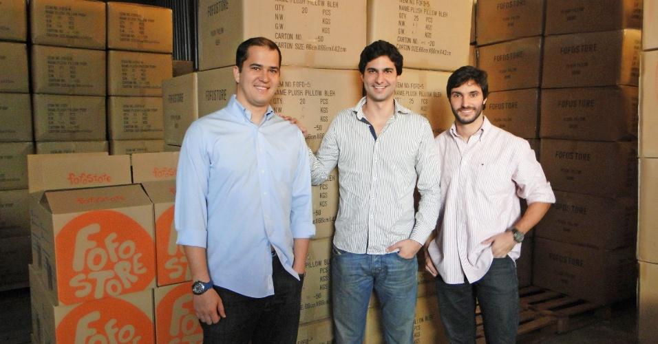 Da direita para a esquerda, os sócios da FofoStore Marcelo Abritta, Charles Simao e Bruno Scolari