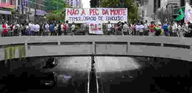 pec protesto paulista  - Kevin David/A7 Press/Estadão Conteúdo - Kevin David/A7 Press/Estadão Conteúdo