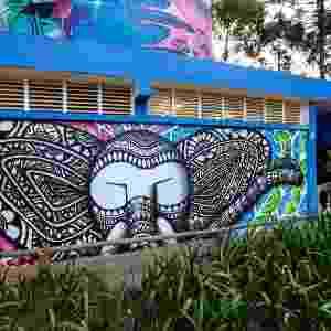 23.mar.2017 - Um projeto realizado por 14 grafiteiros de São Paulo trouxe 11 murais ao entorno de dois banheiros públicos da marquise do Ibirapuera - Bruno Poletti/Folhapress